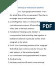 Fundamentals of Paragraph Writing