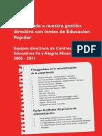 Una mirada a nuestra gestión educativa. FeyA Nicaragua