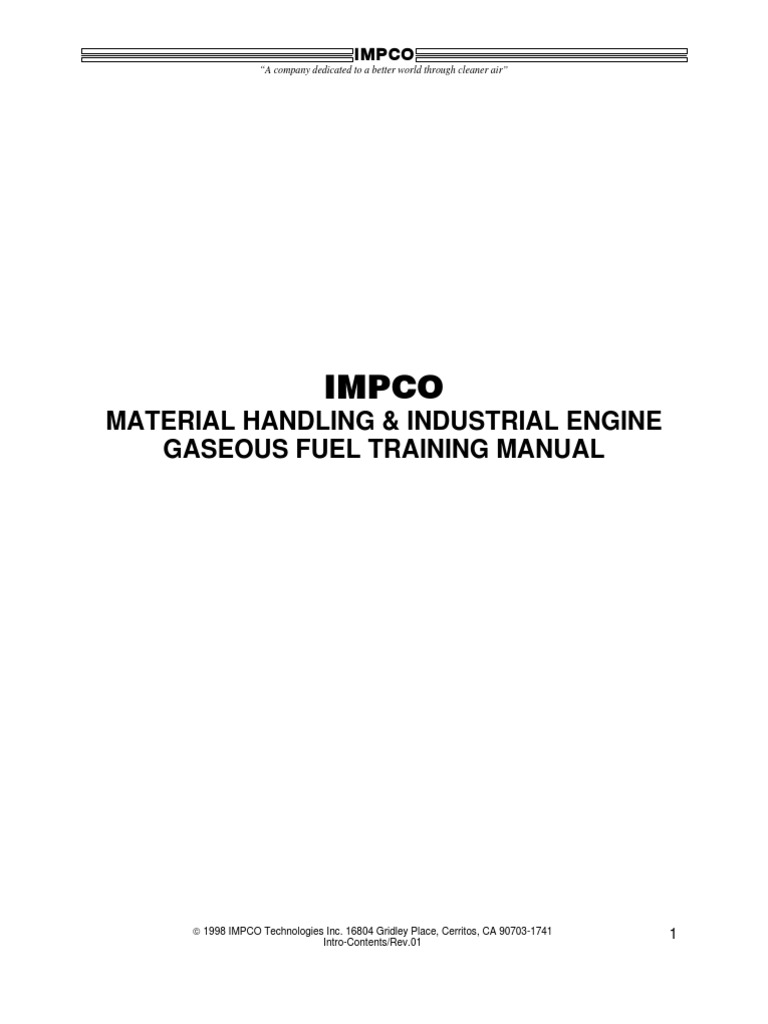 IMPCO Training Manual | Internal Combustion Engine | Fuel Injection