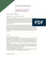 DINÁMICAS GRUPALES DE INTEGRACIÓN