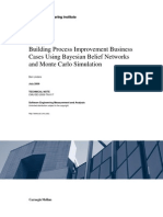 Building Process Improvement Business Cases Using Bayesian Belief Networks and Monte Carlo Simulation
