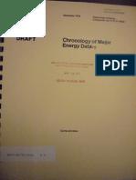 Chronology of Major Energy Dates - 1978