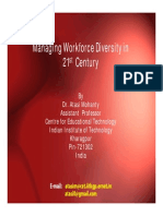 Managing Workforce Diversity in 21st Century
