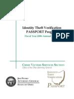 2006 Identity Theft PASSPORT Program Report