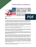 FORMAS DE EXPRESIÓN COSMÉTICAS Y ORNAMENTALES