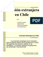 Diapositivas Inversión extranjera en Chile