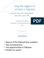 Breaking the Logjam of Malnutrition in Pakistan