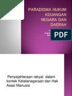 Paradigma Hukum Keuangan Negara Dan Daerah