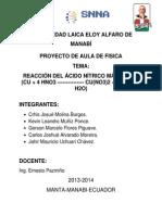 Proyecto Aula Quimica Reaccion