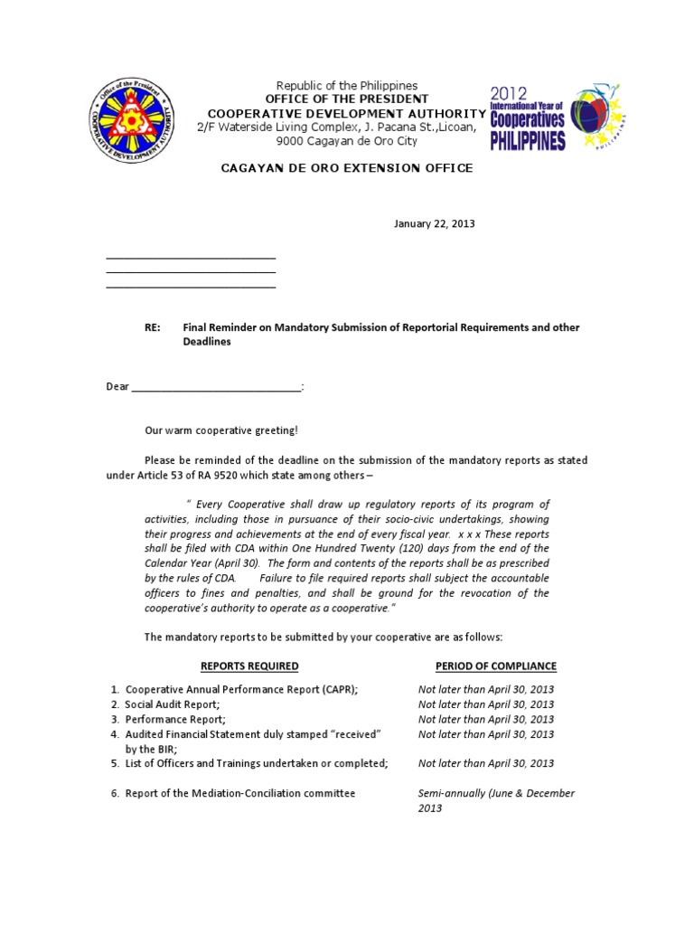 Deadlines for submission of reports for the 2nd quarter of 2018 41