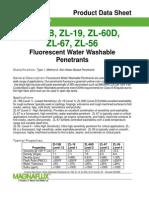 Zyglo~Reg Water Washable Penetrants (ZL-15B ZL-19 ZL-60D ZL-67 ZL-56)