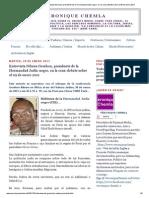 173726990 Veronique Chemla Entrevista Nduwa Gershon Presidente de La Hermandad Judia Negro en La Cena Debate Sobre El 09 de Ene
