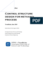 Control Structure Design for Methanol Process