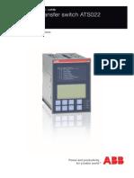 ABB ATS022 Auto Transfer Relay Instruction Manual