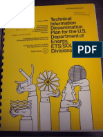 Technical Information Dissemination Plan for the U.S. Department of Energy, ETS Solar Divisions - 1979