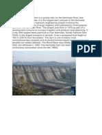 The Sardar Sarovar Dam is a Gravity Dam on the Narmada River Near Navagam