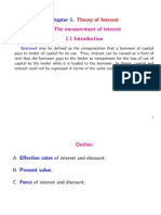 Chapter 1. Theory of Interest