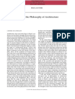 Kant and Philosophy of Arch