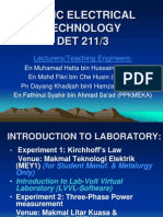 Introduction to Det 211 Laboratory