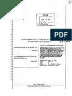Keyes v. Bowen - Order Granting Obama Motion to Quash (Mar. 23, 2009)