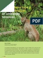 Depredadores tope y cascadas tróficas en ambientes terrestres. Mario S Di Bitetti (2008)