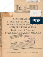 TM 9-890 5-TON SEMITRAILER STAKE AND PLATFORM, JULY 1944