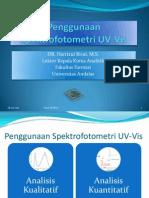 Kuliah 3 Penggunaan Spektrofotometri UV-Vis
