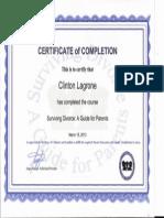 Parenting Class Certificate
