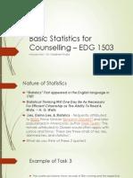 Basic Statistics for Counselling _ EDG 1503V2