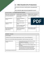 as media studies ms2 checklist