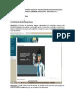 Evidencia y Respuesta de Taller Del Curso de Formacion Tecnopedagogica en Ambientes Virtuales Blackboard 9