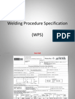 Welding Procedures Specification