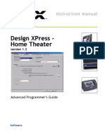Design XPress Home Theater Version Advanced Programmers Guide 0332716