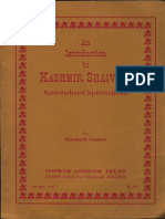 An Introduction to Kashmir Shaivism Rationalised Spiritualism - Dinananth Ganjoo