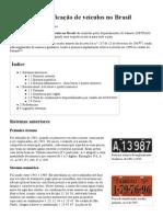 Placas de identificação de veículos no Brasil – Wikipédia, a enciclopédia livre