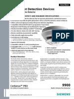 Model OH921 Multi Criteria Fire Detector Data Sheet A6V10337771 Us En