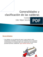 Generalidades y clasificación de las calderas