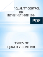 Quality & Inventory Control - Ppt