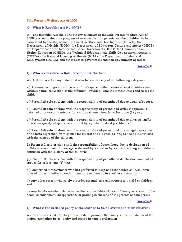 Affidavit Solo Parent Parenting – Affidavits Template