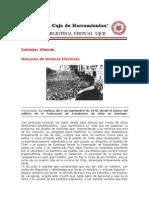 Discurso de La Victoria Electoral - Allende
