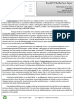 Fami Pop Reflection Paper