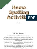 spelling activity bank - home activities
