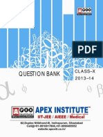 Mathematics Question Bank Class x for Summative Assessment-II 2014