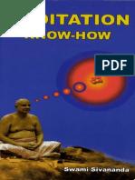 Meditation Know-How. Sri Swami Sivananda 271p_8170522242
