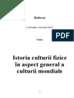 Istoria Culturii Fizice in Aspect General a Culturii Mondiale