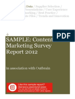 SAMPLE Content Marketing Survey Report