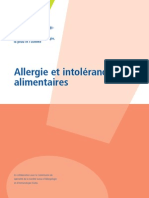 Allergie et intolérance alimentaires