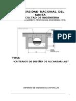 criterios de diseño de alcantarillas