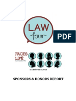 LAW IV 2013 - Faces of Life (Sponsors & Donors Report)