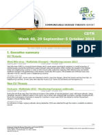 Communicable Disease Threats Report 05 Oct 2013